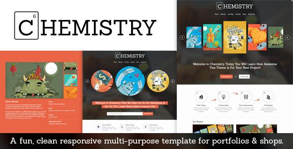 Chemistry - Responsive Portfolio & Shop Template - Portfolio Creative