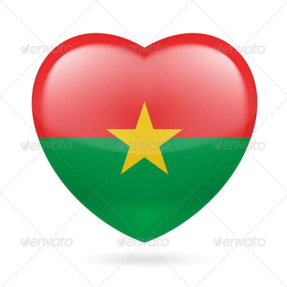 Heart icon of Burkina Faso