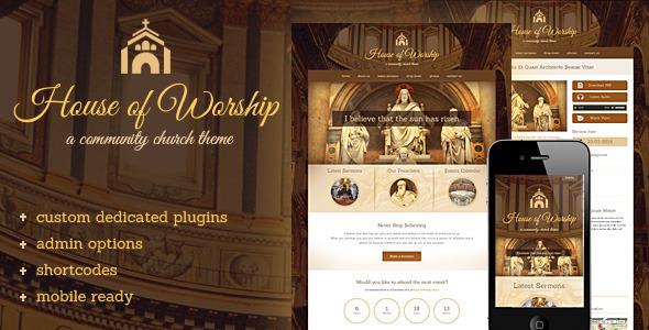 House Of Worship - Church Wordpress Theme - Churches Nonprofit