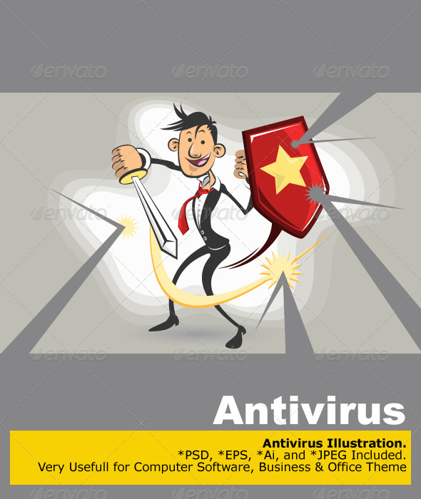 Graphic River Antivirus Vs Virus  Vectors -  Conceptual  Technology  Computers 760243