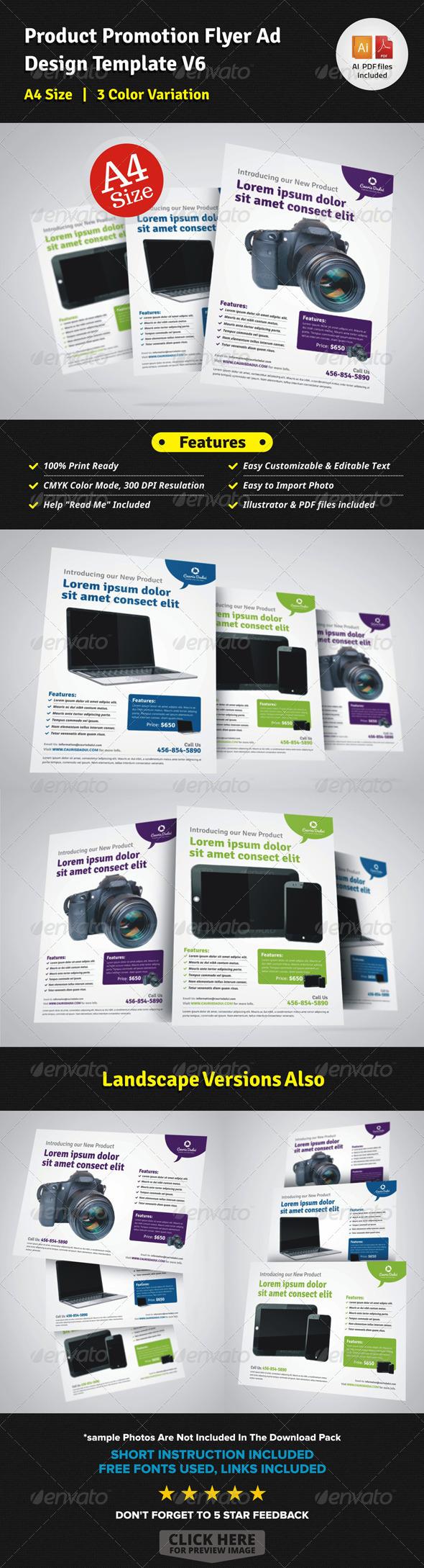 Product Promotion Flyer Ad Design V6