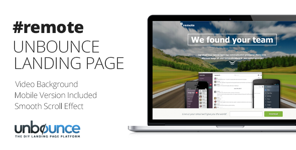 Remote | Unbounce Landing Page Template
