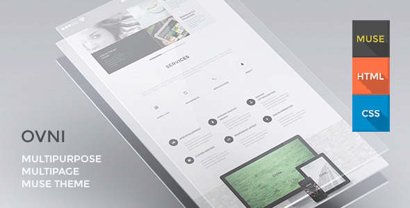 OVNI - Multipurpose One Page Muse Theme