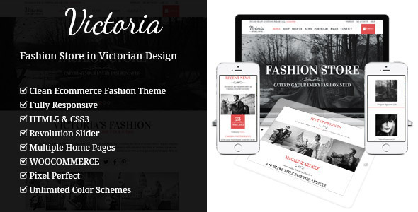 Фото Шаблон Wordpress платный  Victoria - Fashion WooCommerce Wordpress Theme — 01 thumbBig victoria.  large preview