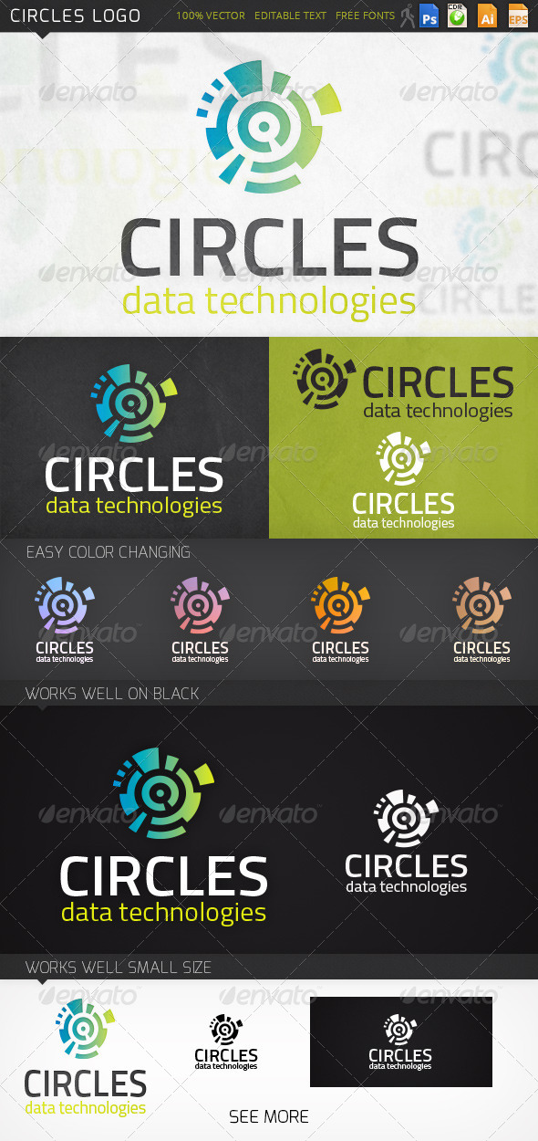 Circles Abstract Logo Template