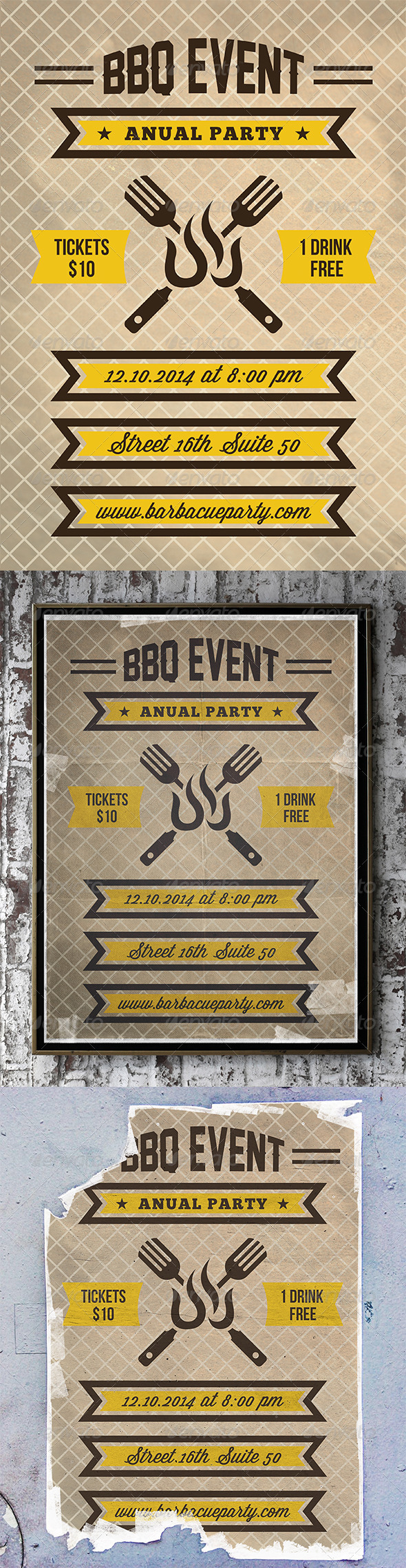 BBQ Party Flyer Poster