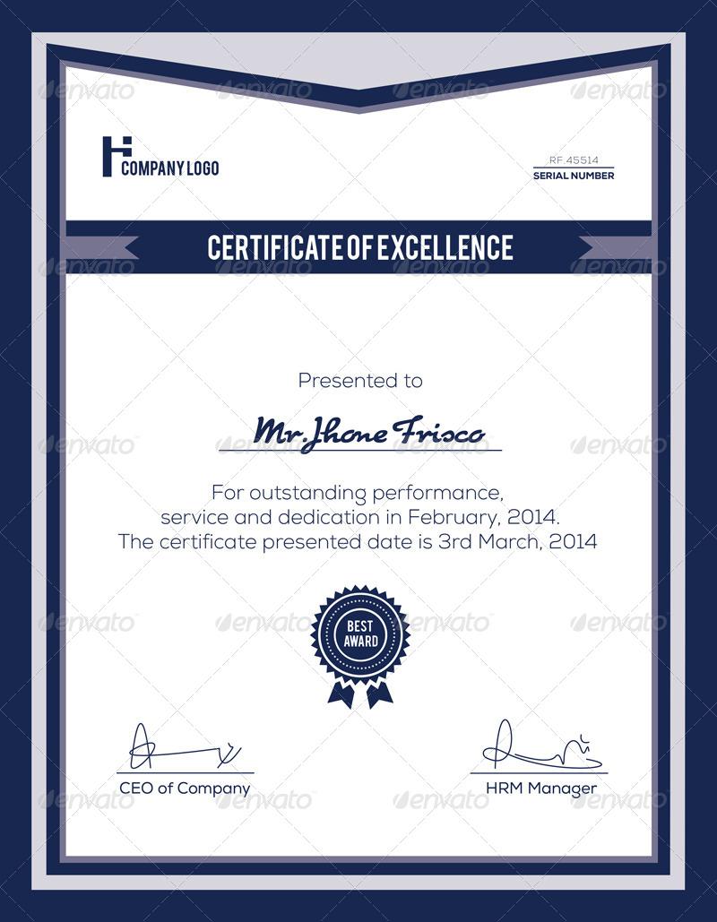 Corporate Certificate Template by Nasirktk – Corporate Certificate Template