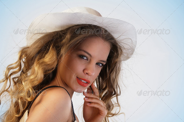 Happy woman enjoying summer - Stock Photo - Images