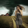 Tornado destroying a woman's house - PhotoDune Item for Sale