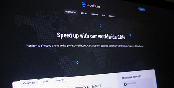 Hostium - Responsive Hosting Theme - Hosting Technology