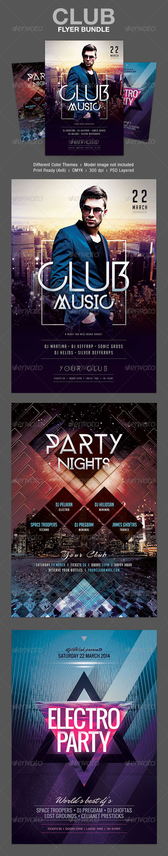 Club Flyer Bundle - Clubs & Parties Events