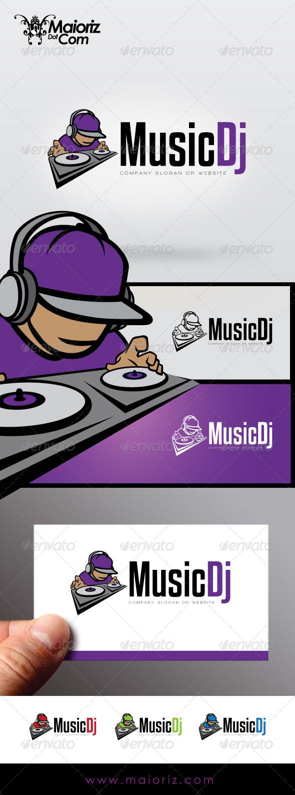 Music Dj Logo
