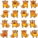 16 Smiley Foxes - GraphicRiver Item for Sale