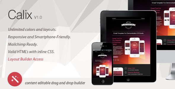 Calix - Responsive Email Template & Layout Builder