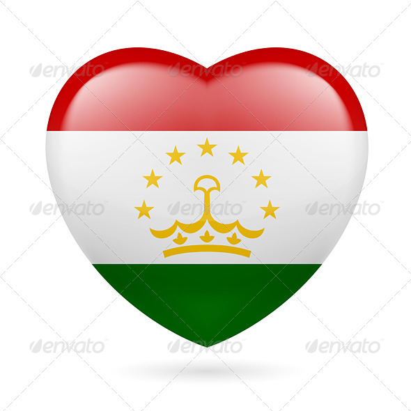 Heart Icon of Tajikistan