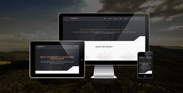 Hosty - Responsive Html Hosting Template - Hosting Technology