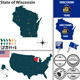 Map of State Wisconsin, USA - GraphicRiver Item for Sale