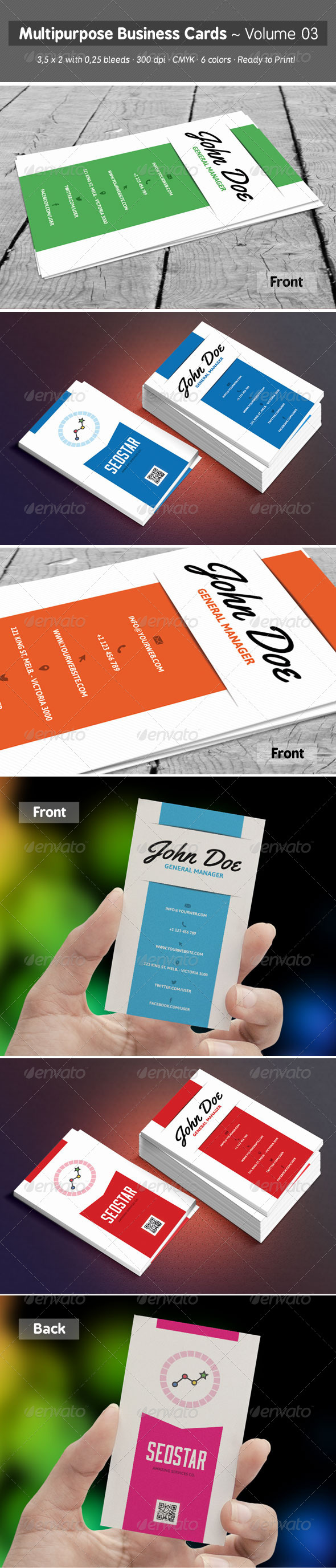 Multipurpose Business Cards Volume 03