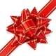 Bow of Red Ribbon Located Diagonally - GraphicRiver Item for Sale