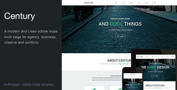 Century - Agency Multi Page Muse Template - Corporate Muse Templates