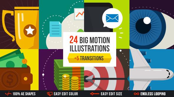 Big motion illustrations pack