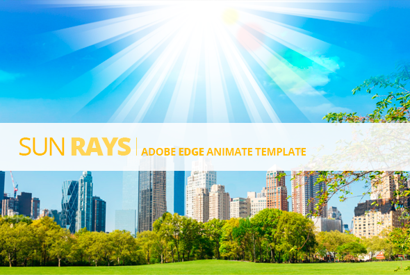 Edge Animate Sun Rays Template - CodeCanyon Item for Sale