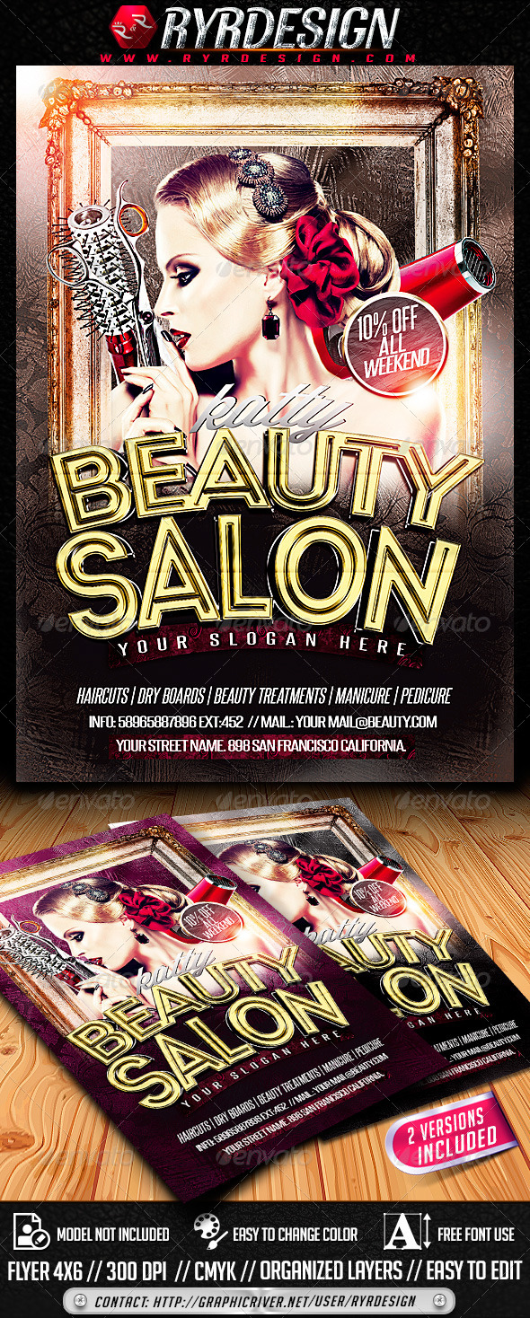 Beauty Salon Flyer PSD - Corporate Flyers