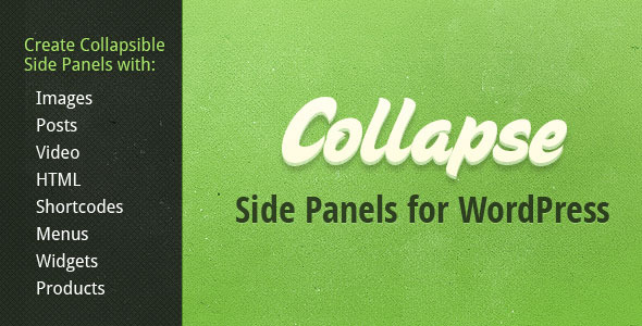Collapse - Collapsible Sliding Panel for WordPress - CodeCanyon Item for Sale