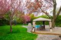Backyard with gazebo and deck - PhotoDune Item for Sale