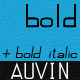 Auvin Font Bold - Bold Italic - GraphicRiver Item for Sale