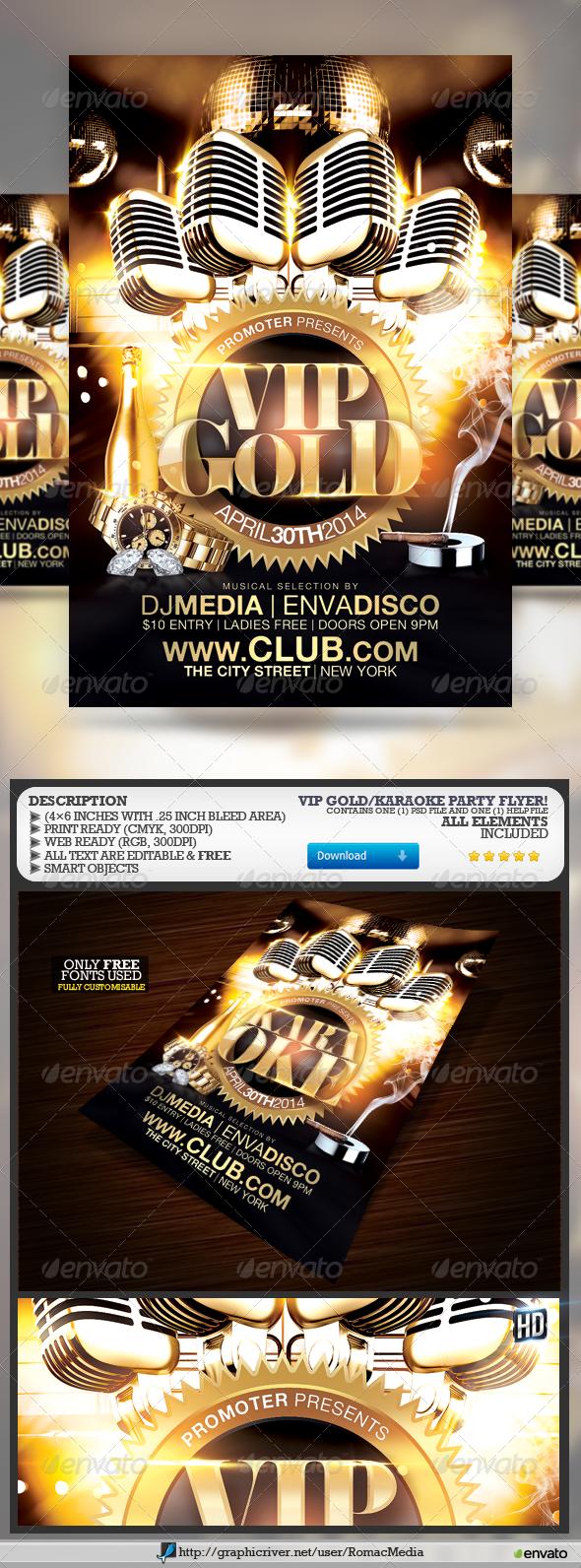 VIP Gold Karaoke Party
