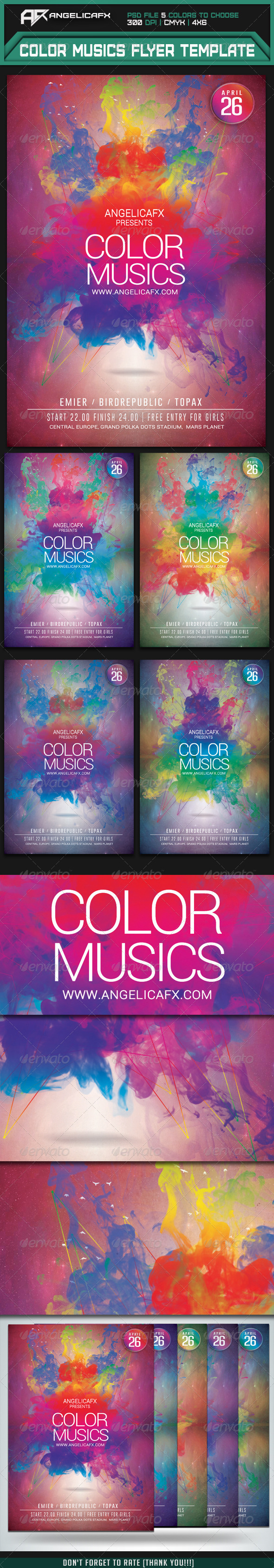 Color Music Flyer Template