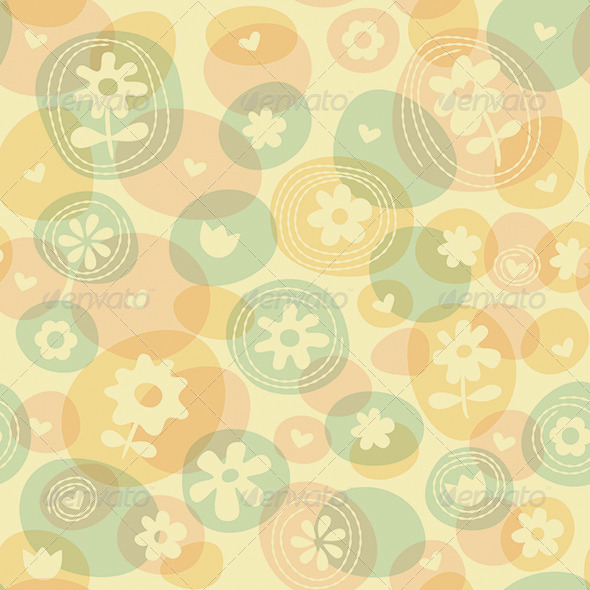 Repeat Spring Flowers Fun Stitched Pattern