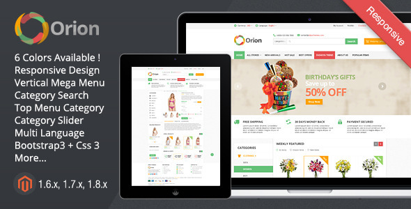 Orion - Mega Shop Responsive Magento Themes