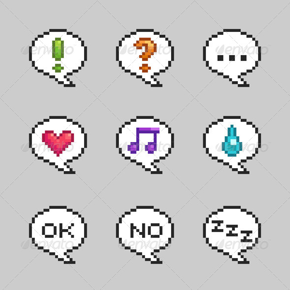 Pixel Bubbles with Emotions