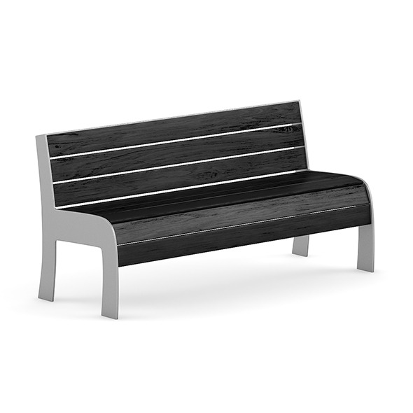 Black Wood Bench - 3DOcean Item for Sale