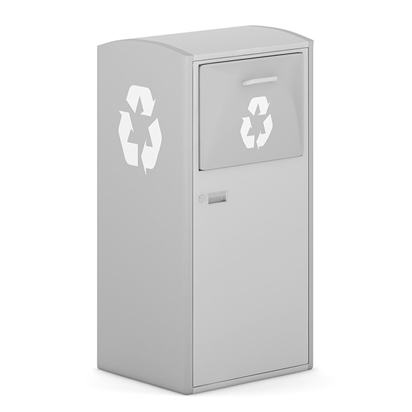 Street Grey Recycle Bin - 3DOcean Item for Sale