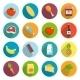 Supermarket Foods Flat Icons Set - GraphicRiver Item for Sale