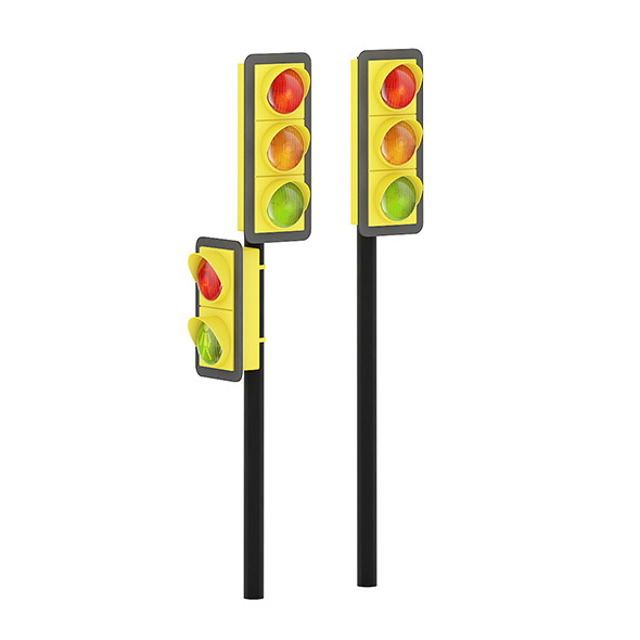 Traffic Lights (side road) - 3DOcean Item for Sale