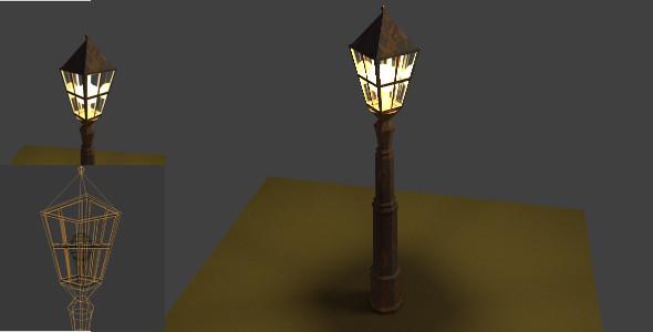 Old Rusty Street Lantern - 3DOcean Item for Sale