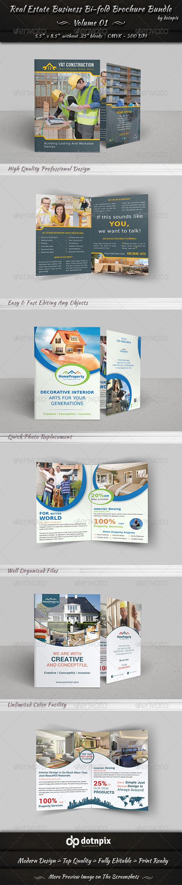 Real Estate Bi-fold Brochure Bundle Volume 1