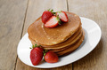 Ready to eat pancakes with strawberry - PhotoDune Item for Sale