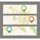 Set of Banners with Map and Color Pin Pointer - GraphicRiver Item for Sale