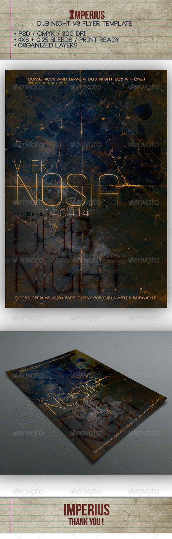 Dub Night V3 - Flyers Print Templates