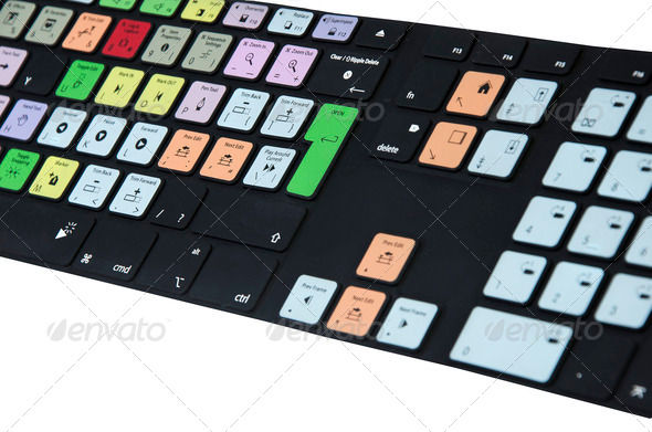 PhotoDune Multi Colored Video Editing Rubber Keyboard 761216