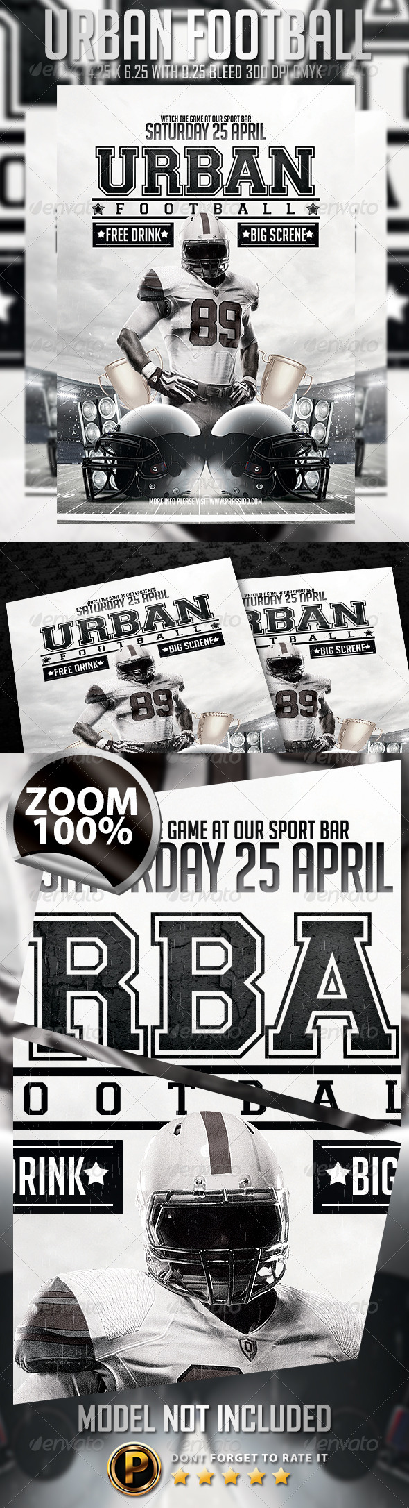 Urban Football Flyer Template - Sports Events