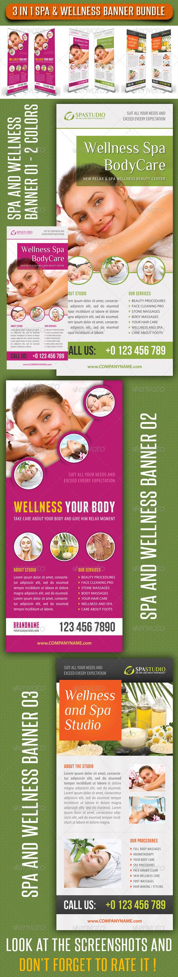 3 in 1 Spa Wellness Banner Bundle 04
