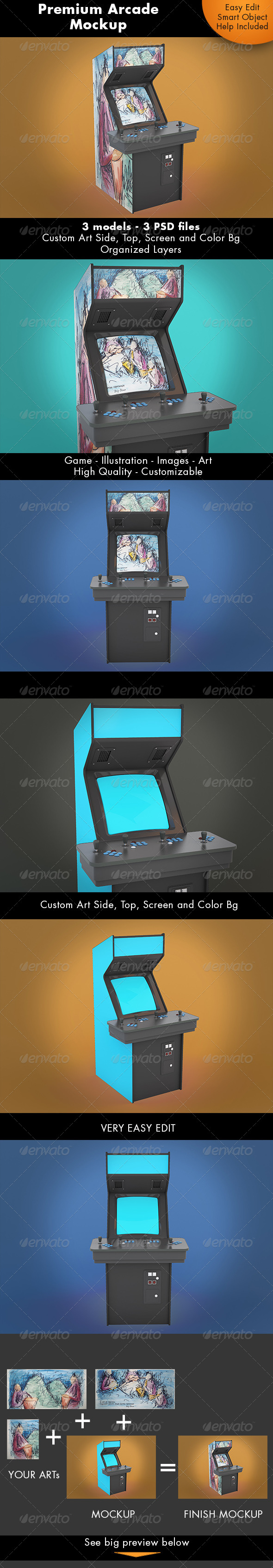 Arcade Game Mockup - Miscellaneous Displays