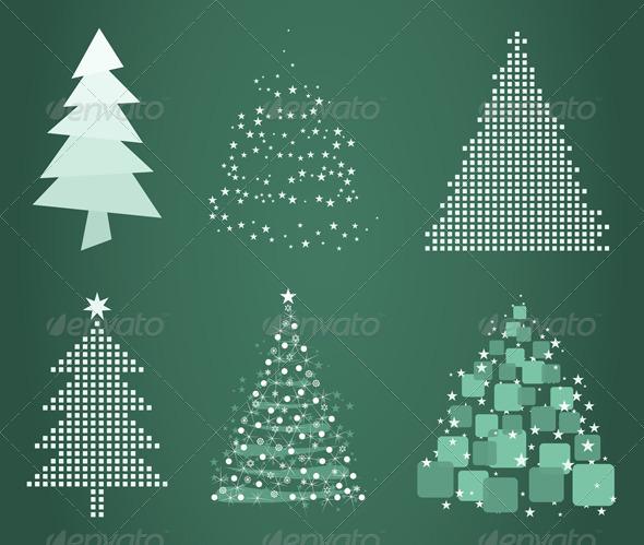Graphic River Celebratory tree4 Vectors -  Conceptual  Seasons/Holidays  Christmas 761578
