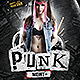 Punk Night Flyer Template - GraphicRiver Item for Sale